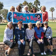 Member-Guest Committee: Front row (left to right): Kittie Day, Chris Cook, Karen Poturalski, Claudia Tiger, Chanca Morrell; Back row: Donna Havener, Carolyn Suttles, Pat Laatsch, Linda Glazar, Debbie Sayre; Not pictured: Alice Lewis, Liz Mitchell, Sheri Sears.