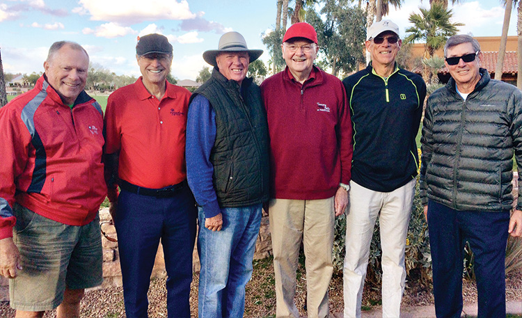 Some of the 2019 PCMGA volunteers (left to right): Arnie Lawrence, Greg Harris, Mike Christensen, Mike Moy, Bill Simmons and John McCrickard.