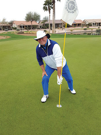 Vic Van Horn scored an ace on Hole 17 at Tuscany Falls East.