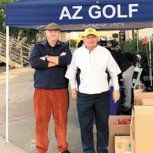 Kyler Kenney (left) and Jerry Treece at the AGA Club Team Championship