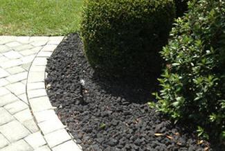 black lava rock angular gravel