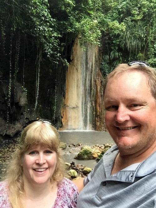 Diamond Botanical Gardens Saint Lucia Diamond Waterfall pebblepirouette.com #caribbean #saintlucia #botanicalgardens #flowers #tropicalflowers