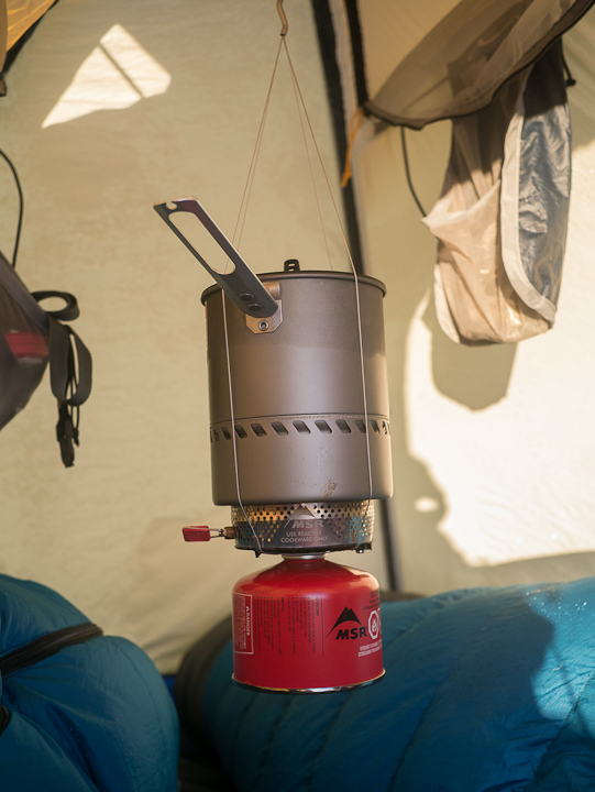 MSR Reactor Hanging Kit Thoughts on stoves in tents