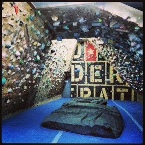 The bouldering gym.