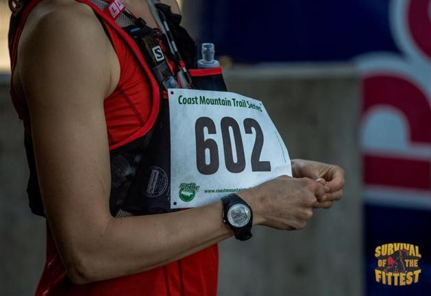 Getting my race bib on. Photo by: Brian McCurdy