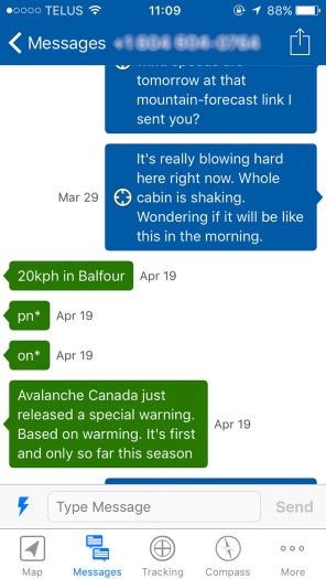 Messaging on the Earthmate App