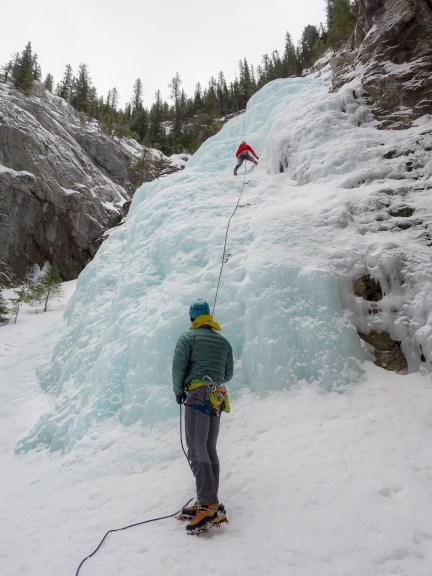 Ice Climbing and staying warm in the StretchDown RS Jacket