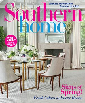 Pebbles Nix Interiors Press Southern Homes March April 2020
