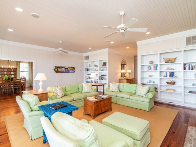 Prince George at Pawley's Island 22 family room mint green couches Pebbles Nix Interiors