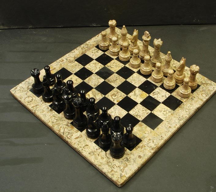 Fossil Stone Chess Sets