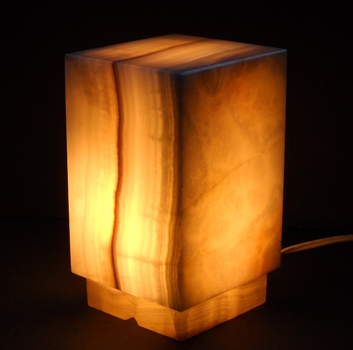 Square Onyx Lamps