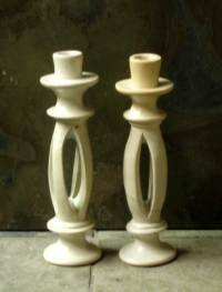 Split Stone Candle Holders