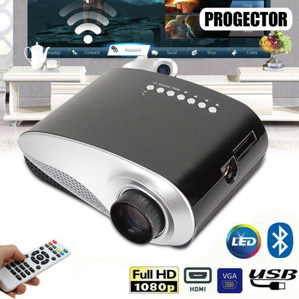 4K 7000 Lumen 1080P 3D Projector Home Theater Portable Multimedia HDMI/USB/VGA