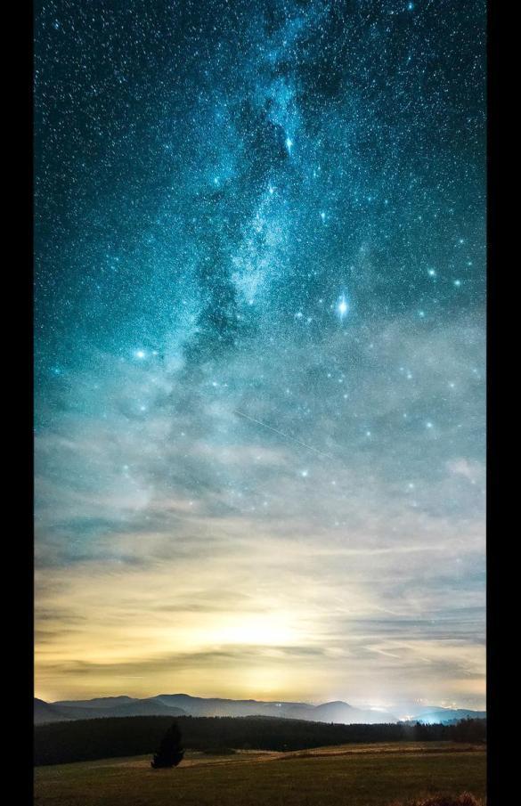 Milchstraße in der Rhön
