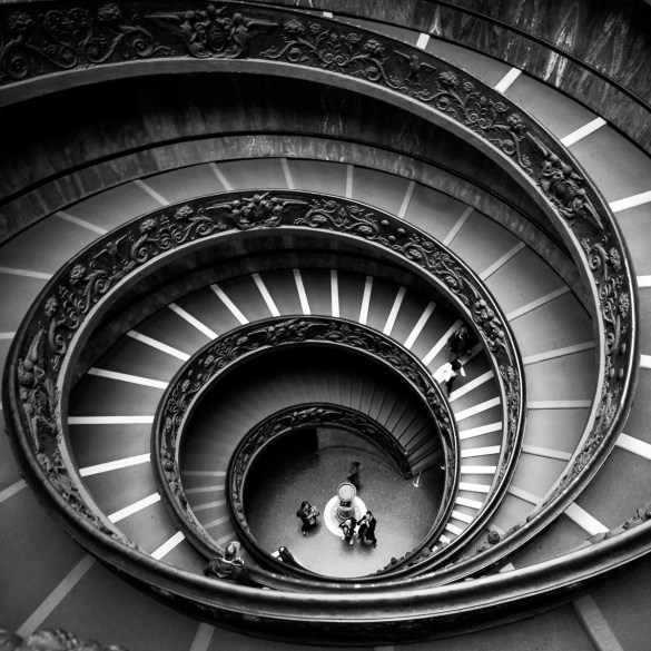 Spiraltreppe im vatikanischen Museum
