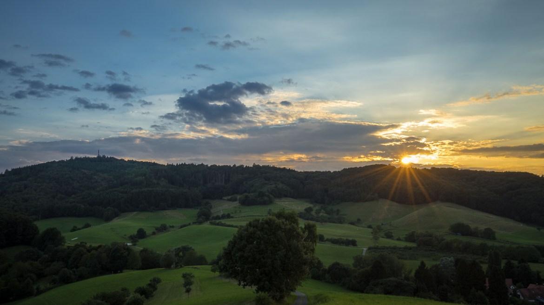 Odenwald Sonnenuntergang