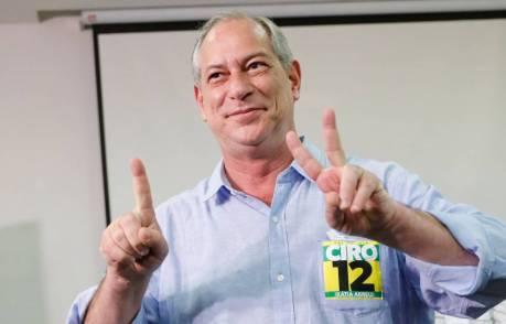 Resultado de imagem para 'Ele não', afirma Ciro Gomes ao ser questionado sobre apoio no segundo turno