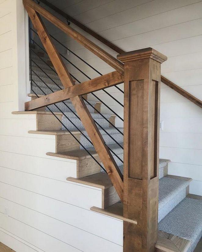 Farmhouse Stair Railing Fixer Upper