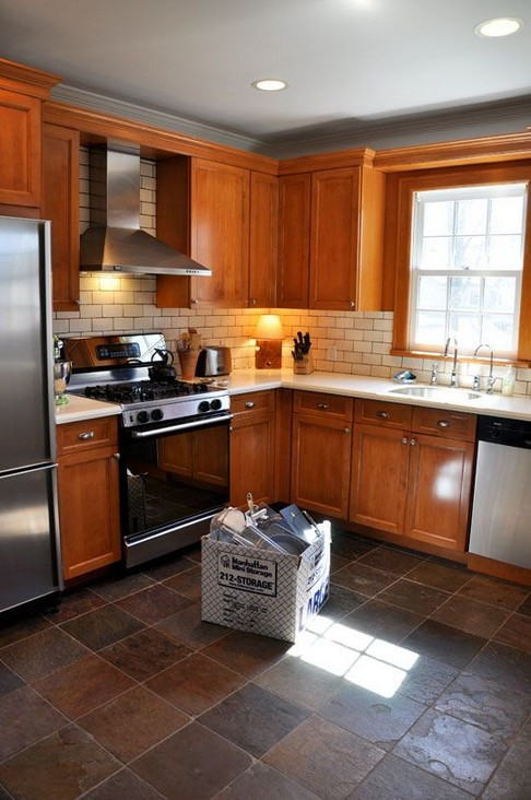 33+ Cherry Wood Cabinets For Small Kitchen Design 00491 ...