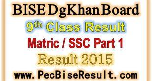 Dgkhan Board Matric Part1 Result 2015