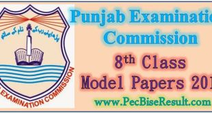 Punjab 8th Class Model Papers 2016
