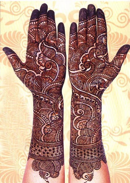 New Indian Mehndi Designs 2016 for Dullhan