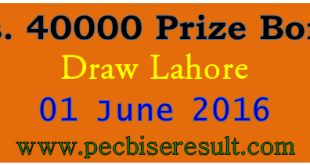 Lahore Prize Bond List 40000