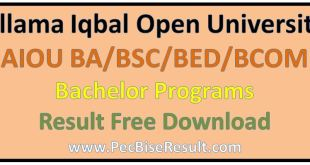 AIOU BSC Result 2016