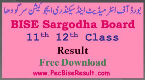 12th class result 2016 sargodha
