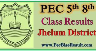 Five Eight Class Jhelum Result 2017
