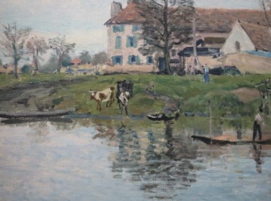 Alfred Sisley, Bords de Seine à Port-Marly, 1875, collection particulière.