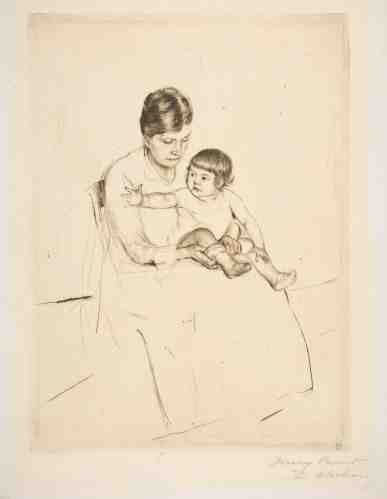 Mary Cassatt, le bas, pointe-sèche, cinquième état sur six, 1890, New-York, The Metropolitan Museum.