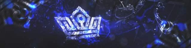 шаблон шапки youtube blue crown
