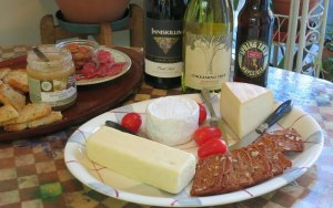 Sample monthly cheese club contents