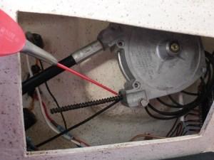 graissage cable volant moteur hors bord