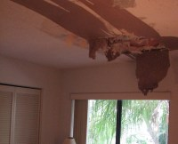 Water damage drywall ceiling repair
