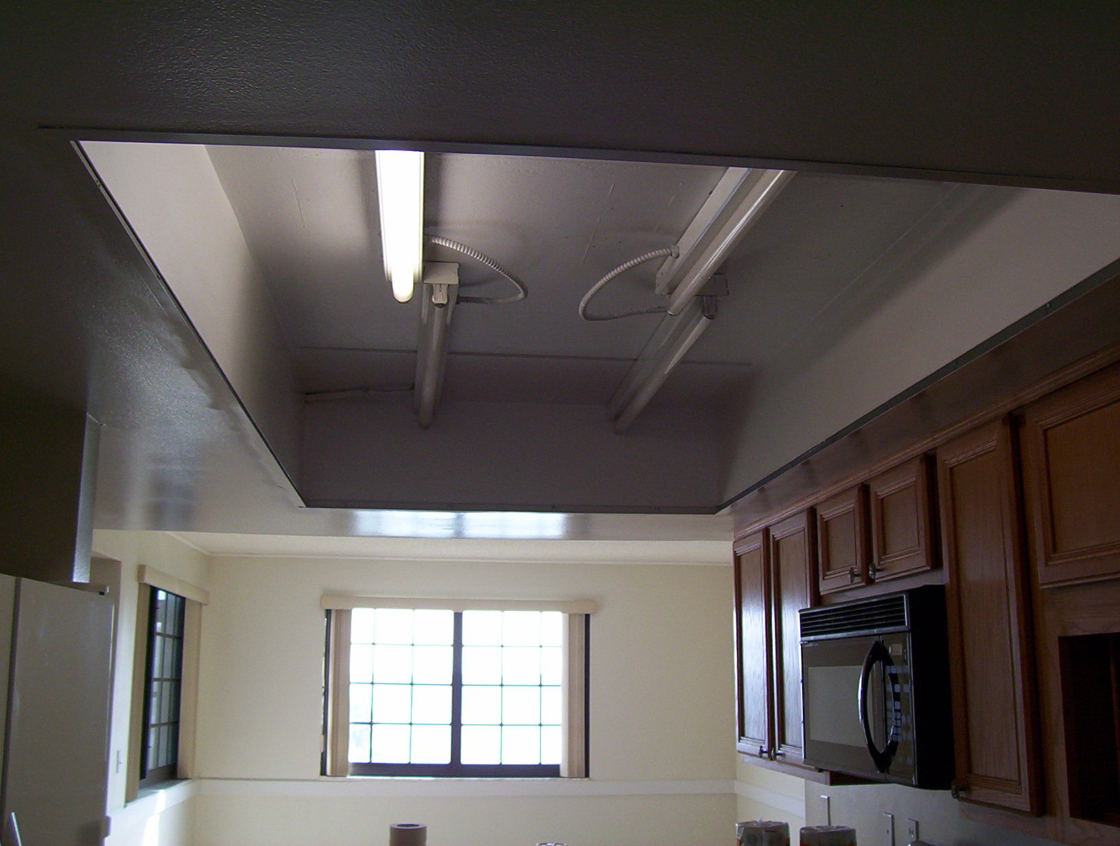 lights for kitchen ceiling amazon undermount sink what to do with my old drop lighting