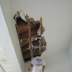 Small Rolling Kitchen Island Metal Cabinets Roof Leak Caused Major Water Damage To This Ceiling In Suntree