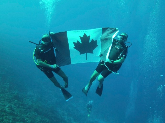 Showing our Canadian pride during the Olympics.