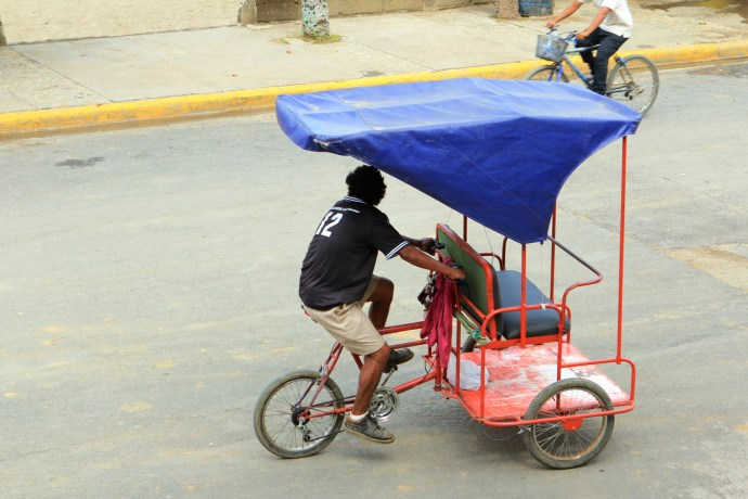 Rickshaws were available for shorter trips.
