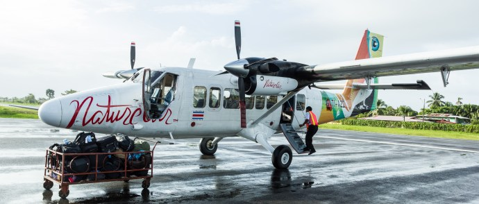 This was the fine aircraft that got us safety to Panama.