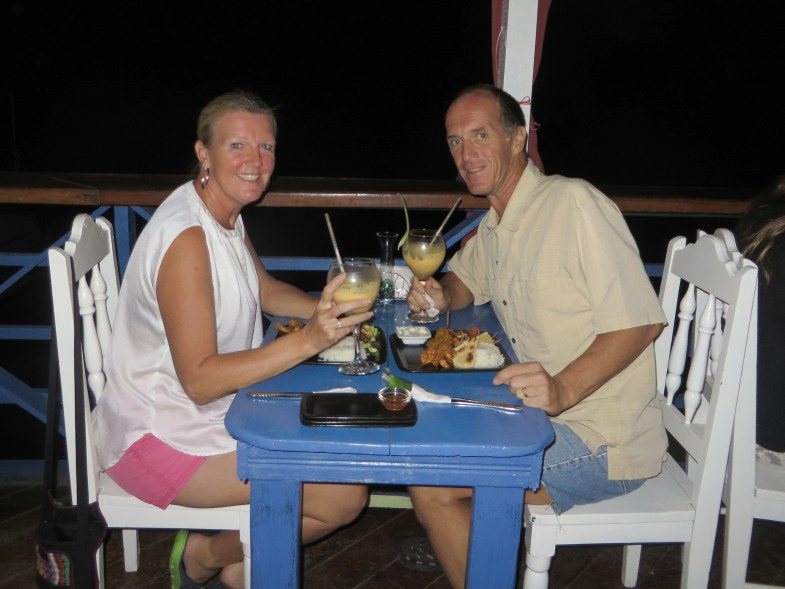 Enjoying a delicious curry at one of my favourite restaurants in Bocas, Mariposa.