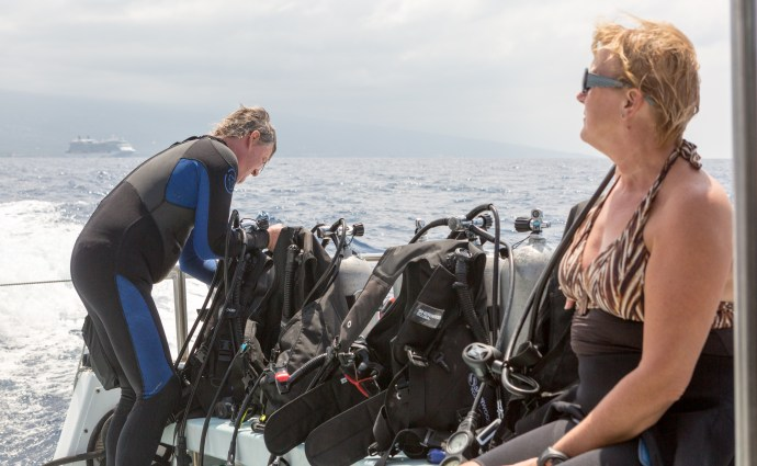 Heading to our second dive site. With our ship in the background. Great staff on the boat.