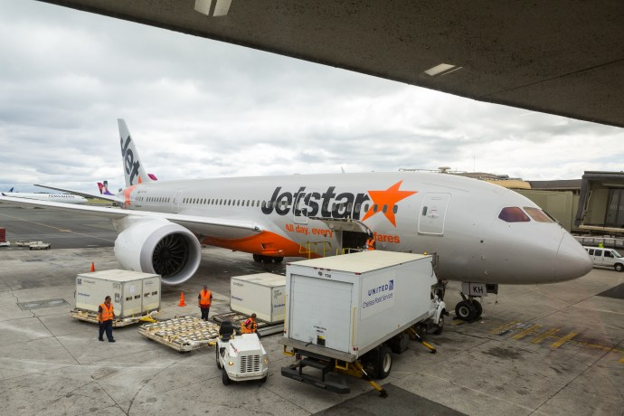 Waiting to board our delayed Jetstar flight for Brisbane, Australia.