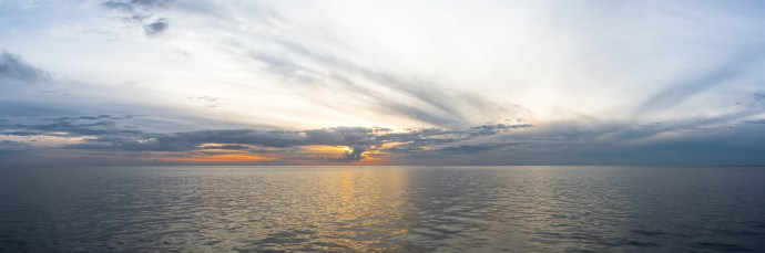 Sunrise over the Great Barrier Reef.