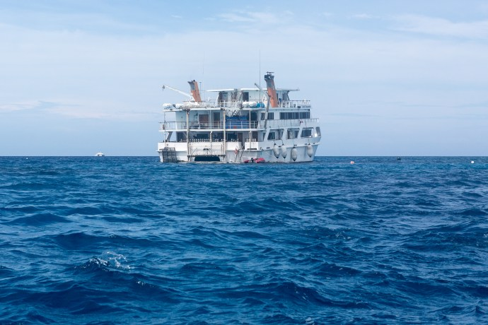 Our home for 3 days with the dive operator Reef Encounter.