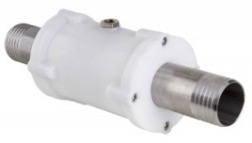 VMP pinch valve with threaded hose nozzle