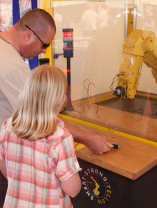 FANUC regularly host visits from schools to encourage young people to interact with robots and raise.....
