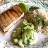 swordfish & coconut rice