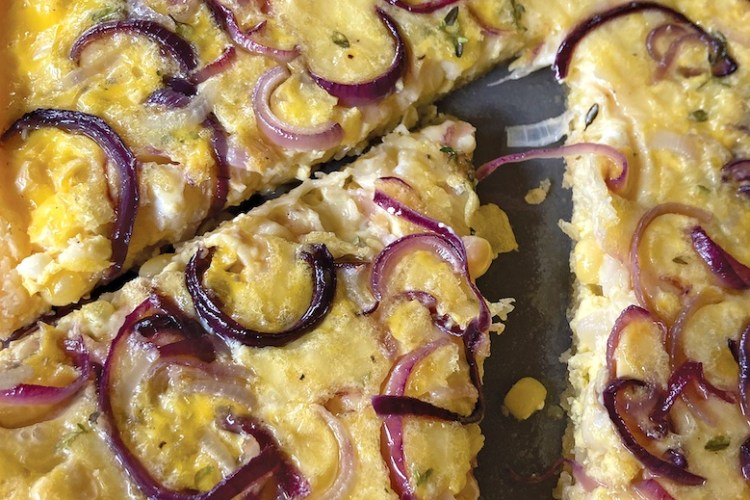 A Corn and Onion Tart
